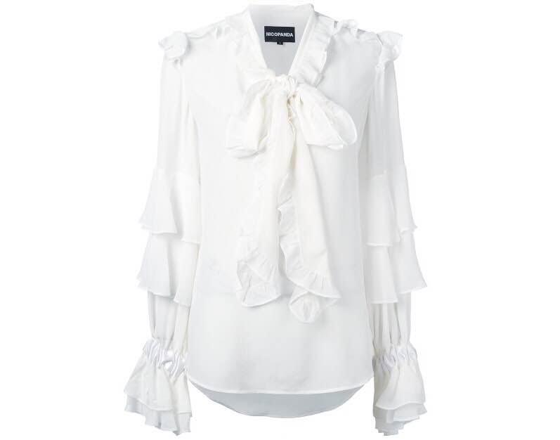 NICOPANDA ruffled blouse